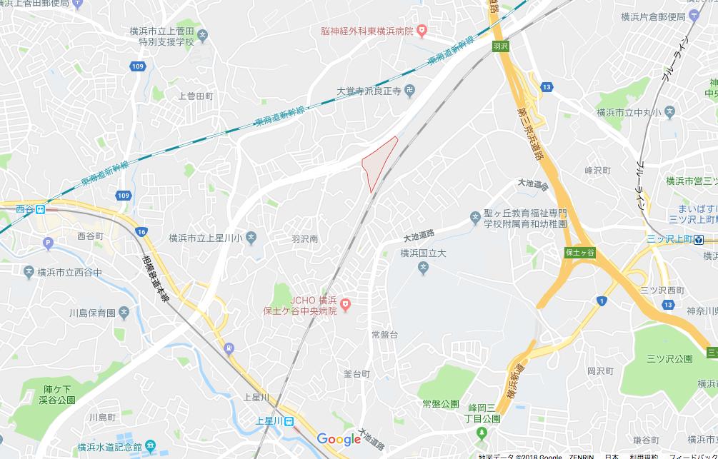 羽沢横浜国大駅の場所について