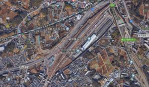羽沢横浜国大新駅の新駅付近の航空写真