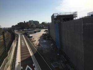 2018年4月 羽沢横浜国大駅開発状況1
