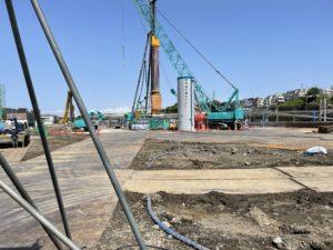 2021年4月 羽沢横浜国大駅開発状況